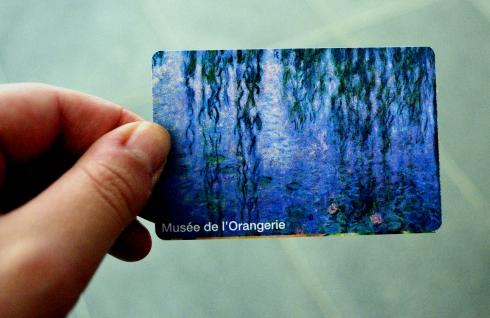 Paris 2013 627 orangerie ticket